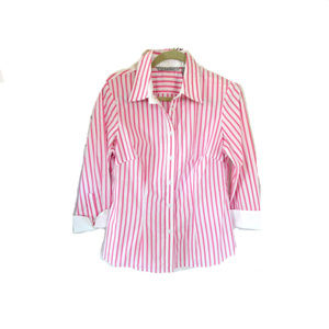 3 FOR $15  LARRY LEVINE PINK    BUTTON DOWN SHIRT